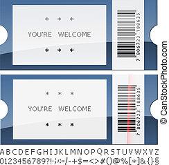 vector modern shiny tickets