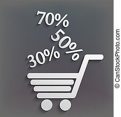 vector modern shopping background with sales.