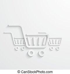 Vector modern shopping icons light background.