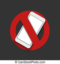 Vector modern sign - turn off the phone.