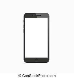 Vector modern smartphone on white background.
