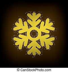 Vector modern snowflakes background.