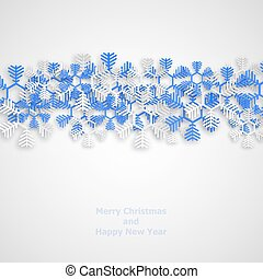 Vector modern snowflakes background. Merry Christmas and...