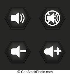 Vector modern sound icons set