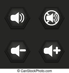 Vector modern sound icons set