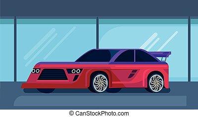 Vector modern sport racing car