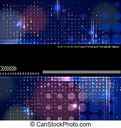 Vector modern technology background design.