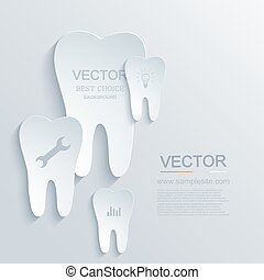 Vector modern tooth background.