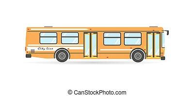Vector modern transportation flat city transit bus public transport isolated travel vehicle icon