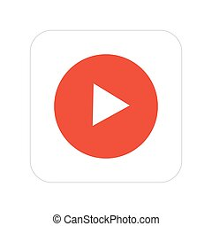 Vector modern video icon on white background.