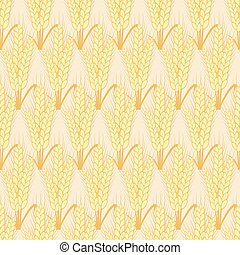 Vector modern wheat seamless background.