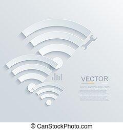 Vector modern wifi zone icon.