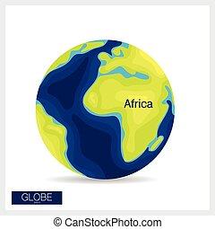 vector, moderne, illustration., globe