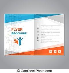 vector, moderne, informatieboekje , abstract, flyer, met,...