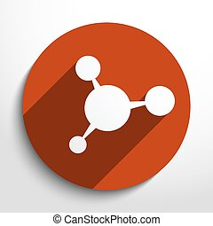 Vector molecule web icon.