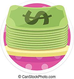 Vector Money Flat Round Icon