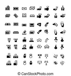 Vector money Icons Set 64 item