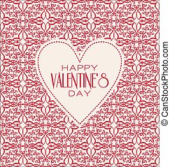 Vector mono line graphic design templates. Happy valentines day.