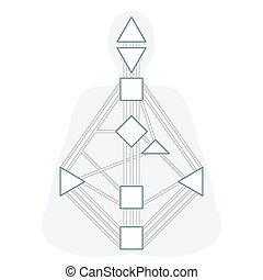 vector outline design monochrome human design body graph energy centers gates system blank template isolated white background