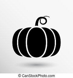 Vector monochrome illustration of pumpkin logo vector