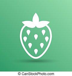 Vector monochrome illustration of strawberries logo food