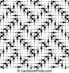 Seamless Electronic Pattern - Vector Monochrome Seamless...