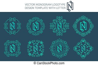 Vector monogram logo set