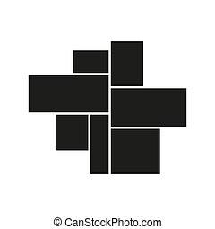 Vector mood board of seven frames. Black photo collage ...