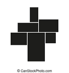 Vector mood board of six frames. Black photo collage ...