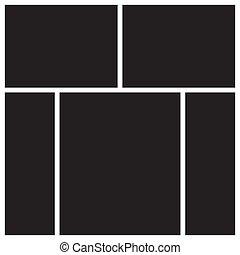 Vector mood board. - Vector mood board of five frames. Photo...