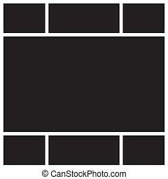 Vector mood board. - Vector mood board of seven frames....