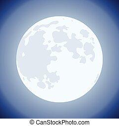 vector moon background illustration