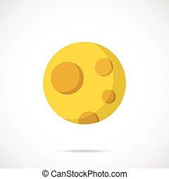 Vector moon icon.Flat design vector
