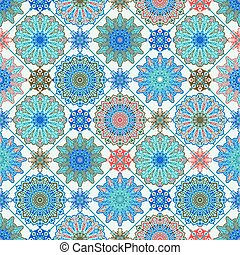 Vector Moroccan Seamless Pattern. Floral Spring or Summer ...