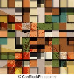 Vector mosaic retro background