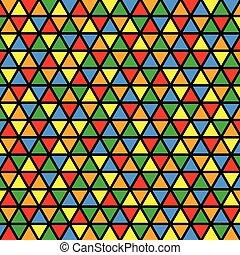 Vector mosaic seamless pattern
