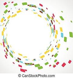 vector mosaic - vector abstract mosaic design illustration