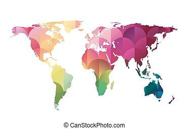 Vector mosaic world map