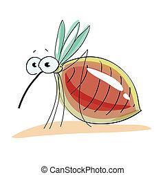 vector, mosquito, ilustración