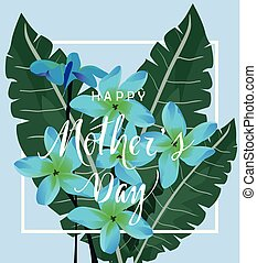 mother's day - vector mother's day card with flowers