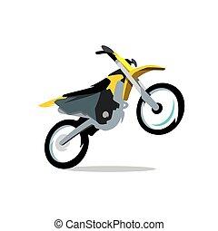 Vector Motocross Bike Cartoon Illustration.