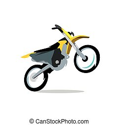 Vector Motocross Bike Cartoon Illustration.