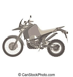 Vector motorbike flat icon isolated