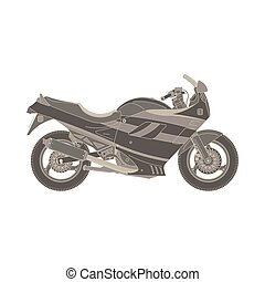 Vector motorcycle flat icon