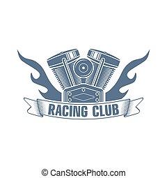 vector motorcycle motor logo