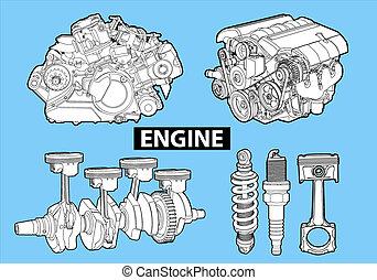 vector, motores