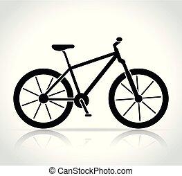 Vector mountain bike icon on white background