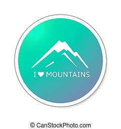 vector mountain icon