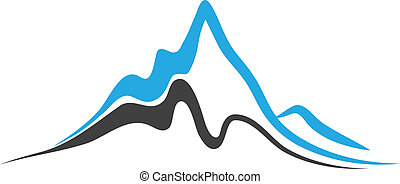 Vector - Mountains with steep peaks logo