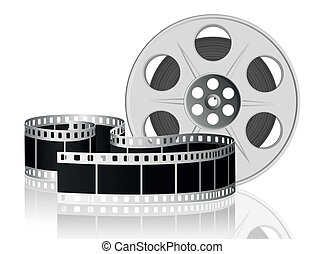 vector, movie., illustration., film, verdraaid